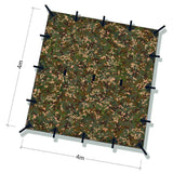 dd tarp 4x4 multicam dimension