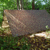 dd tarp 4x4 multicam ground aframe side