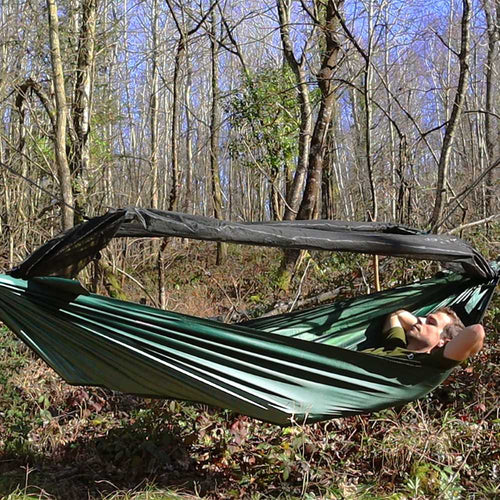 dd travel hammock with bivi olive green