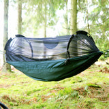 dd xl fronline hammock green with mosquito net closed