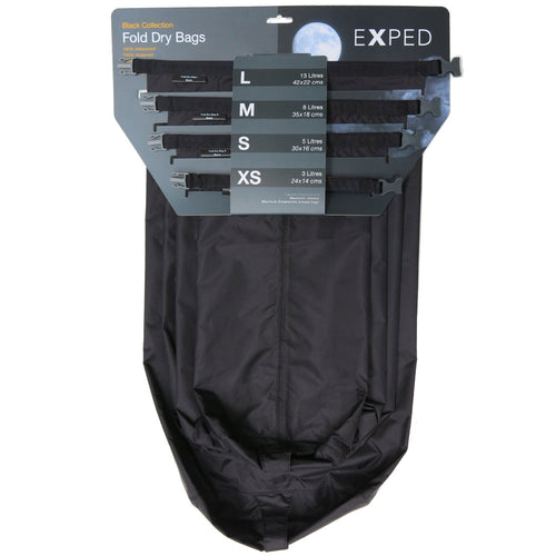 Exped Fold Dry Bags Black 4 Pack XS-L