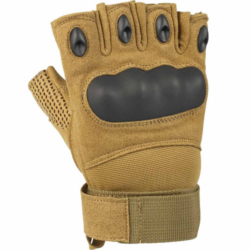 Fingerless Tactical Assault Gloves Coyote
