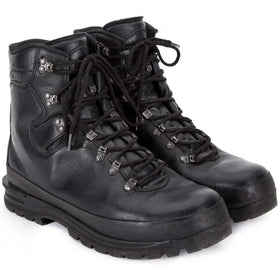 German Army black waterproof mountain boots