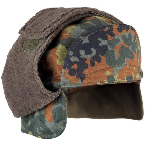 german army winter cap flecktarn camo
