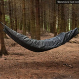 Snugpak Hammock Cocoon hanging between trees