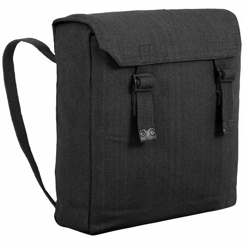 highlander canvas webbing backpack black