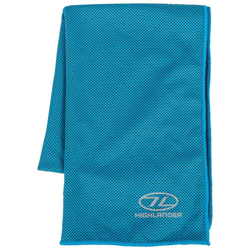 highlander cool tech instant cooling towel blue