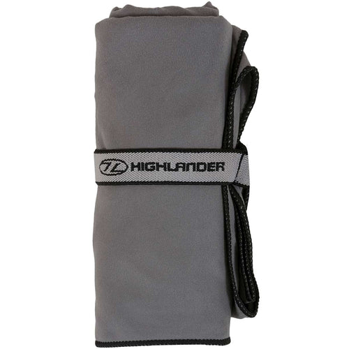 highlander fibre soft towel charcoal grey