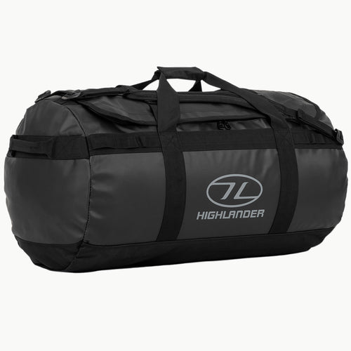 highlander lomond 90l duffle bag black
