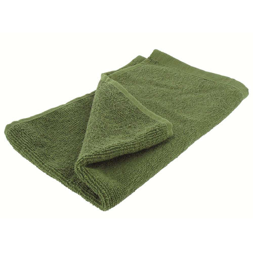 highlander small military olive green towel