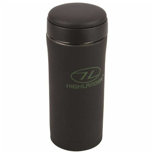 highlander stainless steel thermal mug black