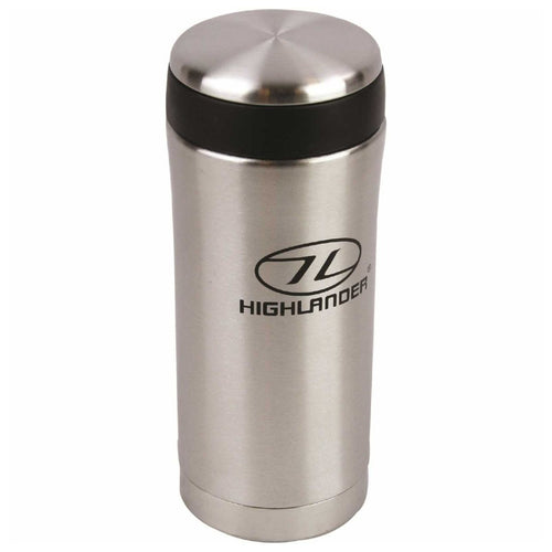 highlander stainless steel thermal mug silver