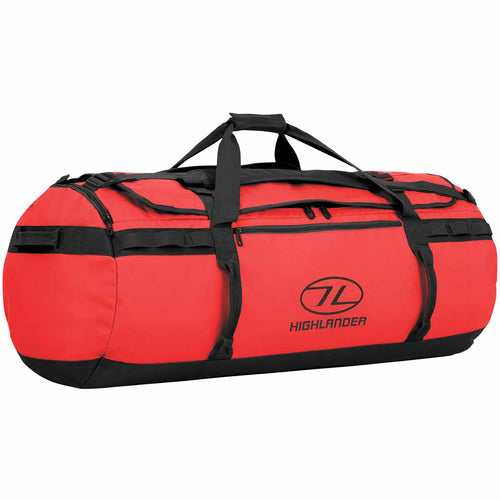 highlander storm kit bag 120 litre red holdall