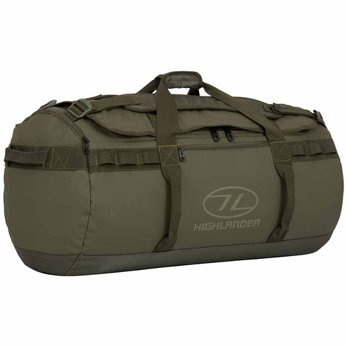 highlander storm kit bag 90 litre olive green holdall