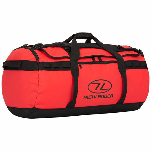 highlander storm kit bag 90 litre red holdall