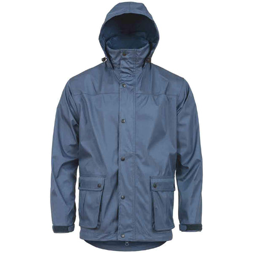 highlander tempest waterproof jacket navy blue hood