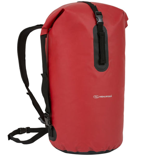 highlander troon red waterproof pvc duffel bag
