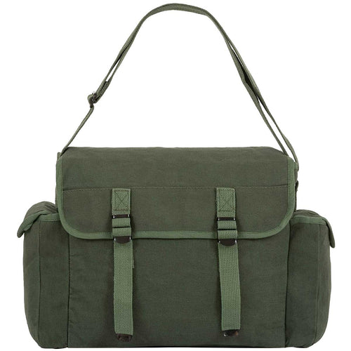highlander olive green webbing canvas haversack