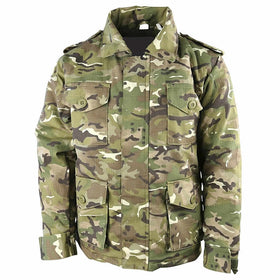 front kids camo army combat jacket