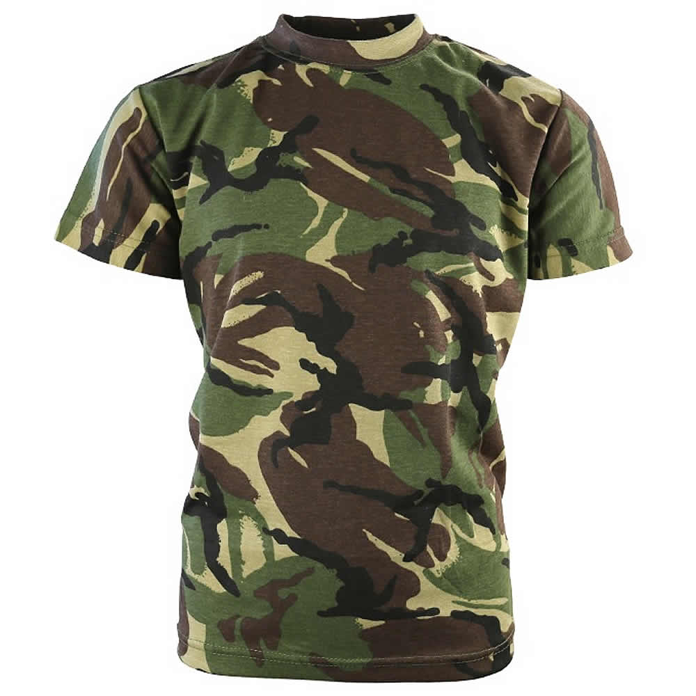 a897a640 Kids British Army DPM Camouflage T-Shirt - 100% Cotton