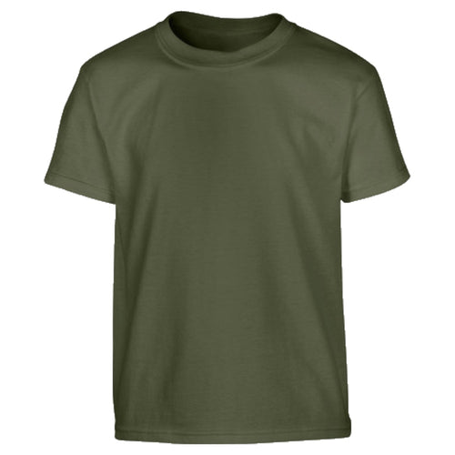 kids olive green cotton t-shirt