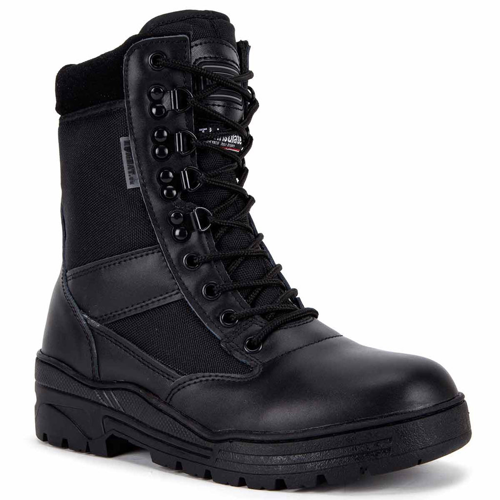 Kombat Black Half Leather Patrol Boot