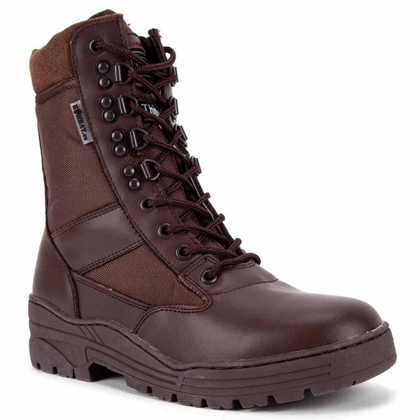 Kombat Brown Half Leather Patrol Boot