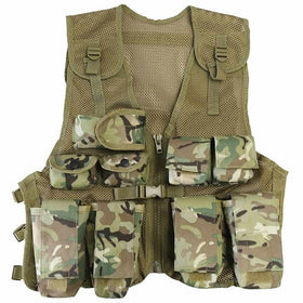 kids multicam camouflage assault vest
