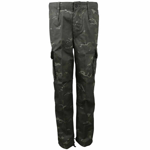 kids camo trousers btp black camo