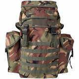 front view of ni patrol pack dpm camo