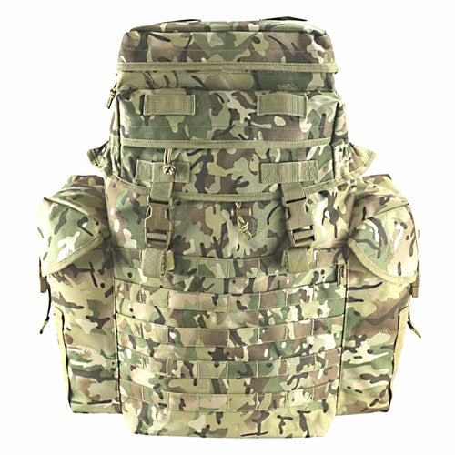 front view of ni patrol pack btp camo