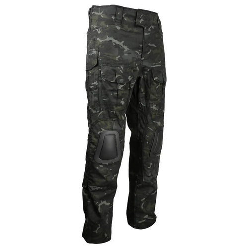 angle view of black combat trousers