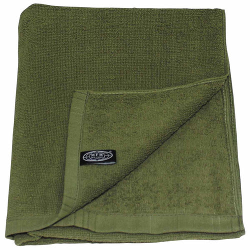 mfh terry towel olive green 110 x 50cm