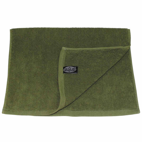 mfh terry towel olive green 50 x 30cm