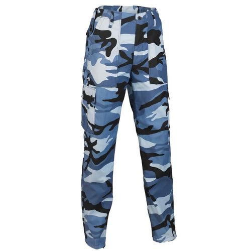 midnight blue camouflage combat trousers