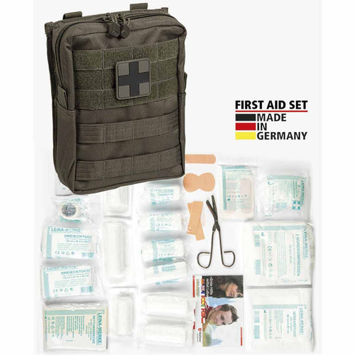 mil-tec first aid kit large olive