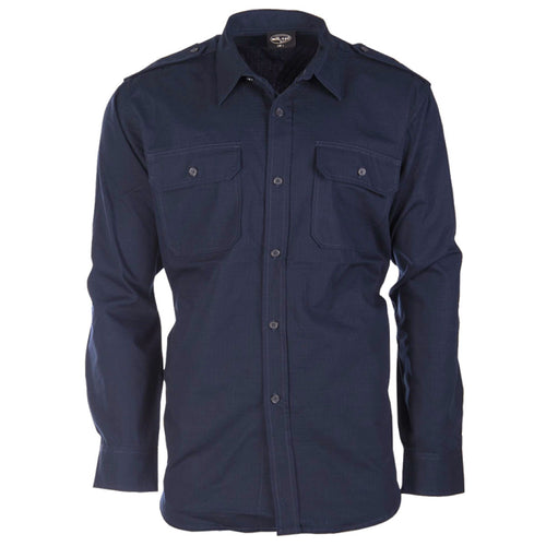 mil-tec navy blue ripstop field shirt