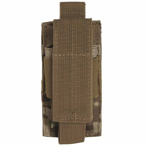 mil-tec single pistol ammo pouch multitarn
