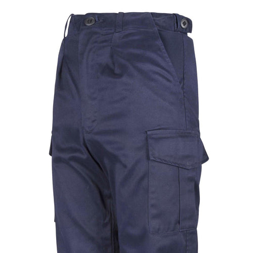 Cargo Trousers Vintage Used Trousers Working Royal Navy Blue