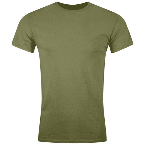 olive green army cotton t-shirt