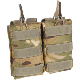 front of open top double ammunition pouch
