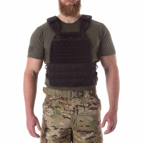 5.11 tactical plate carrier vest black front