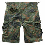 rear of brandit bdu ripstop shorts flecktarn