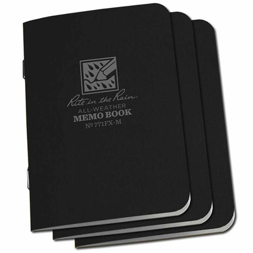 rite-in-the-rain-mini-stapled-notebook-black-3-pack