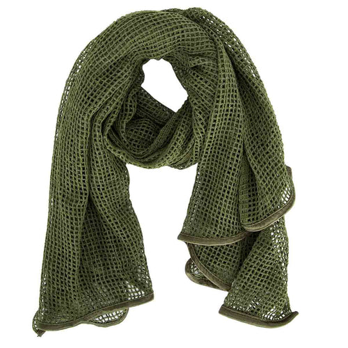 Scrim Net Scarf Military Green