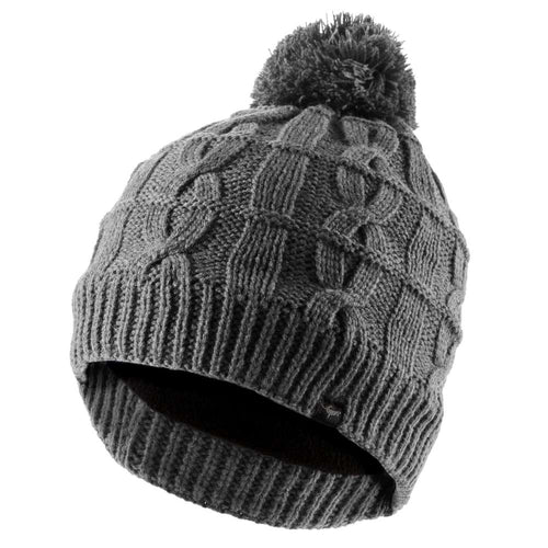sealskinz cable knit grey waterproof bobble hat