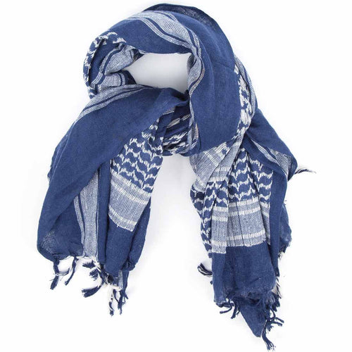 blue white shemagh scarf