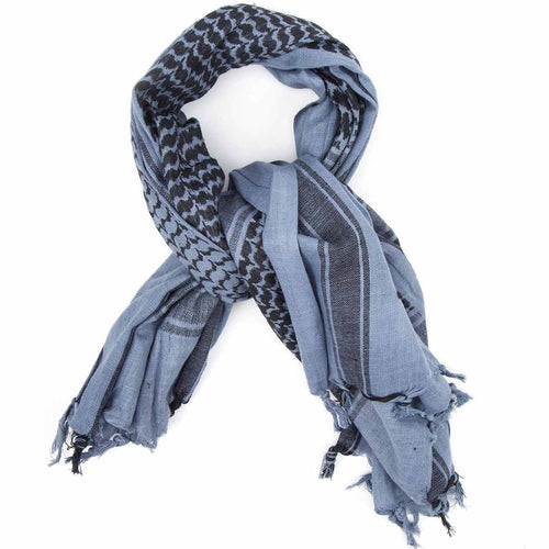 grey black shemagh scarf