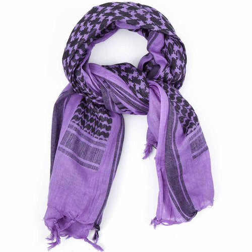 purple black shemagh scarf