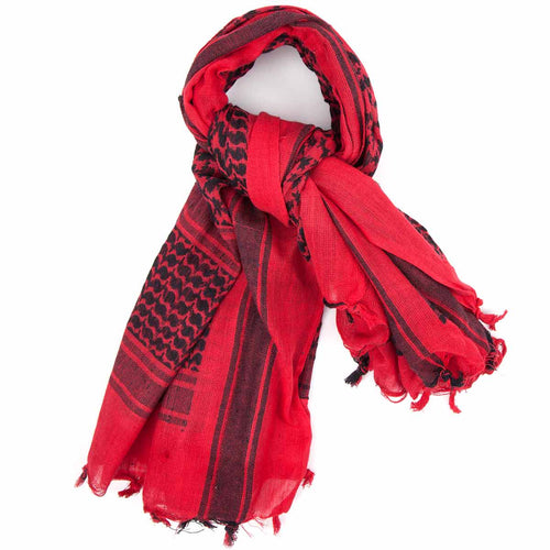 red black shemagh scarf